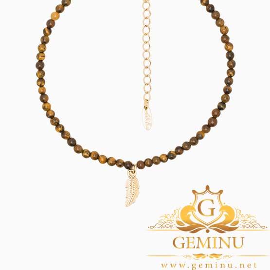 گردنبند طلا طرح پر | گردنبند طلا