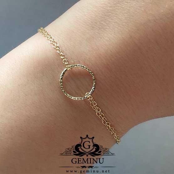 دستبند طلا زنجیری ظریف | دستبند زنجیری طلا ظریف | قیمت دستبند زنجیری طلا ظریف