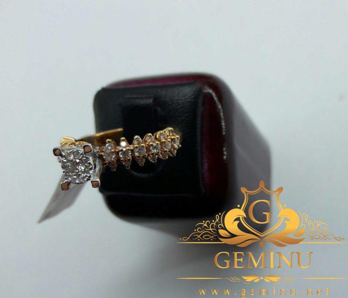 انگشتر طلا مارکیز جواهر