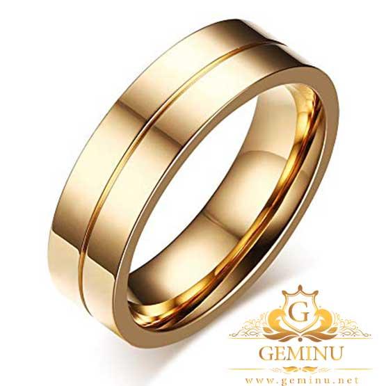 حلقه ازدواج نگین دار ساده