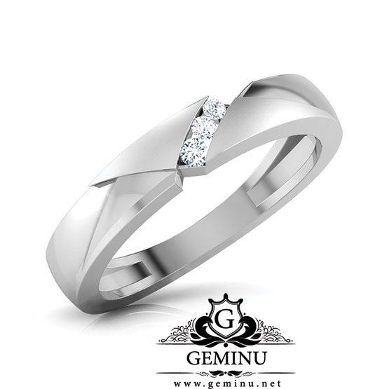 حلقه ازدواج طلا سفید