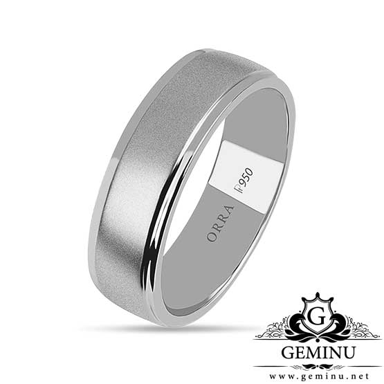 حلقه طلا سفید ساده