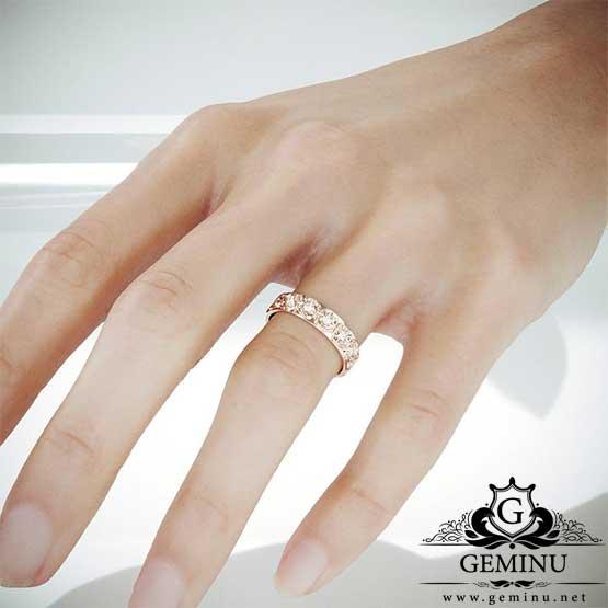 حلقه ازدواج رزگلد
