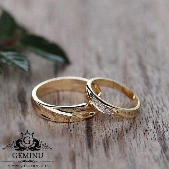 حلقه ازدواج طلا زرد
