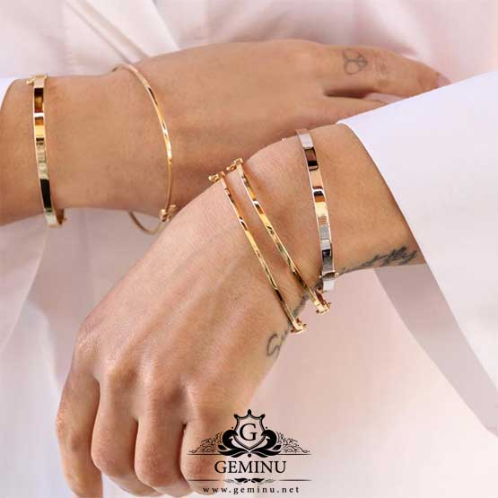 دستبند طلا کارتیه پیچ | دستبند طلا کارتیه مدل پیچ | دستبند طلا کارتیه | دستبند طلا کارتیر پیچ