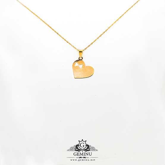اویز طلا قلب پاپیون   اویز طلا قلب   گردنبند طلا   پلاک طلا قلب   مدال طلا قلب