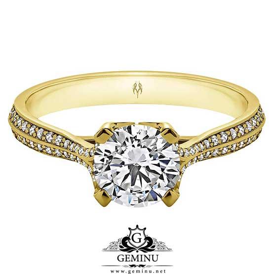 حلقه طلا سولیتر | انگشتر طلا مدل سولیتر | انگشتر طلا طرح سولیتر | خرید انگشتر طلا سولیتر | قیمت انگشتر سولیتر طلا