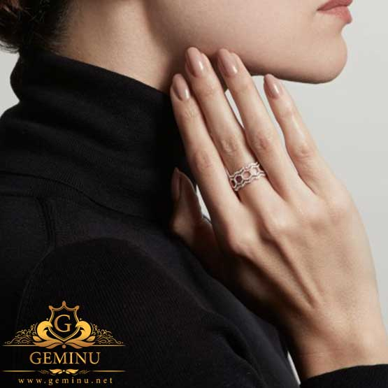 انگشتر جواهر توخالی | انگشتر طلا توخالی | انگشتر جواهر توخالی | انگشتر طلا پهن