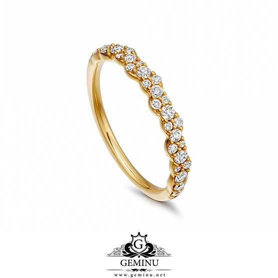 حلقه جواهر ظریف | انگشتر جواهر ظریف | انگشتر طلا سبک | انگشتر جواهر سبک | انگشتر جواهر کم وزن | انگشتر جواهر ارزان