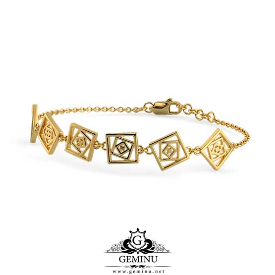 دستبند طلا مربعی | دستبند طلا مربعی شکل | دستبند طلا مربعی | دستبند طلای مربعی | مدل دستبند طلا مربعی | عکس دستبند طلا مربعی