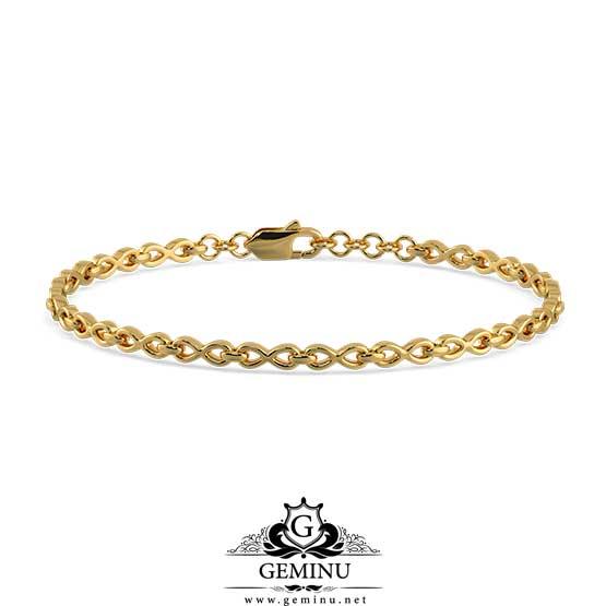 دستبند طلا زنجیری ساده | دستبند طلا زنجیری | دستبند طلا ساده | دستبند طلا بافت