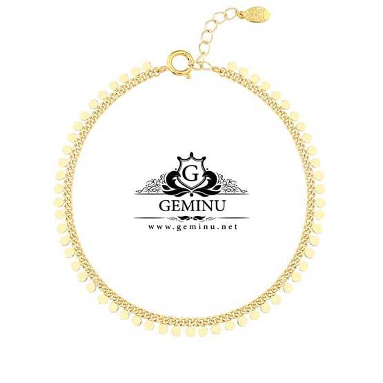 پابند طلا پولکی | پابند طلا سکه ای