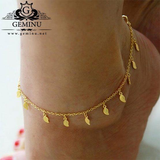 پابند طلا مدل برگ | پابند طلا برگ | پابند طلا قیمت | پابند طلا جدید | پابند طلا خرید