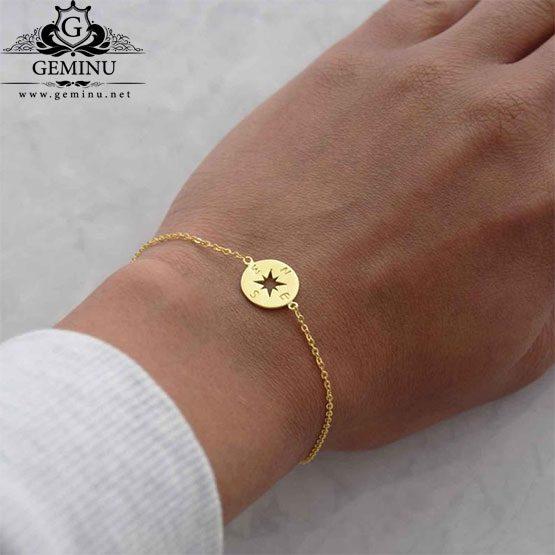 دستبند طلا قطب نما