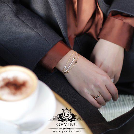 دستبند طلا ستاره | دستبند طلا ستاره ای | دستبند طلا طرح ستاره | دستبند طلا مدل ستاره | دستبند طلا به شکل ستاره