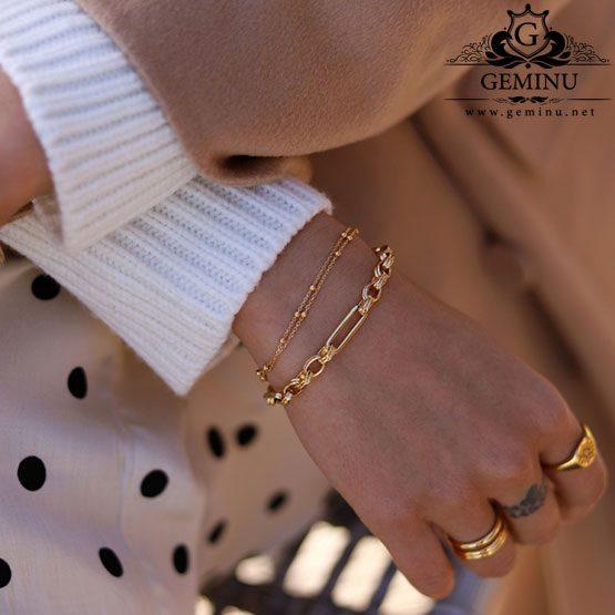 دستبند طلا زنجیری توپی | دستبند طلا زنجیری | دستبند طلا توپی | دستبند طلا توپ توپی | دستبند طلا مدل توپ توپی | قیمت دستبند توپی طلا | عکس دستبند توپی طلا
