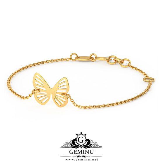 دستبند طلا مدل پروانه   دستبند طلا پروانه   دستبند طلا طرح پروانه   دستبند طلا پروانه ای