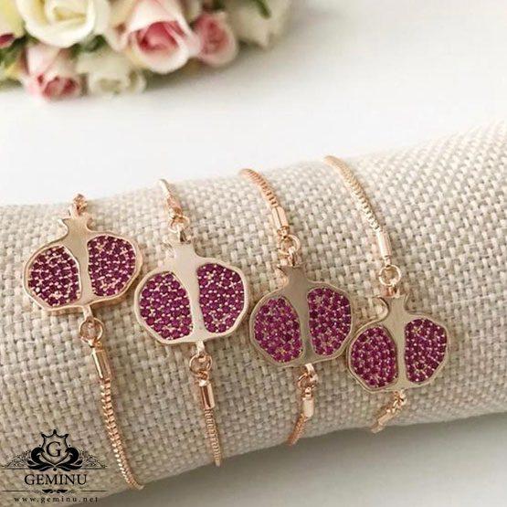دستبند طلا انار | دستبند طلا شب یلدا | دستبند طلای انار | دستبند طلا طرح انار | دستبند طلا مدل انار | دستبند طلا با طرح انار