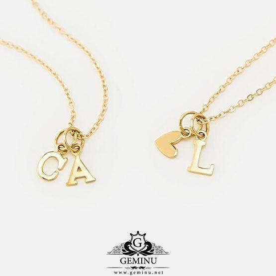 گردنبند طلا i love you | گردنبند طلا love | گردنبند طلا آویزدار | گردنبند طلا پلاک دار