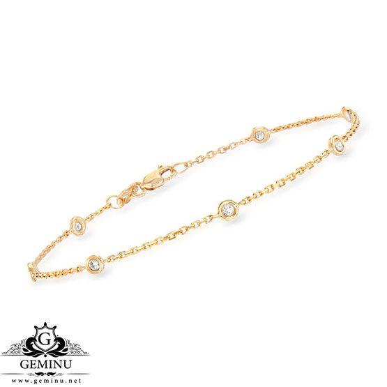 دستبند طلا زرد نگین دار | دستبند طلا زرد | دستبند طلا نگین دار | دستبند طلا زنجیری