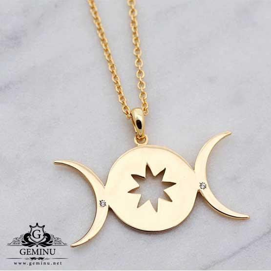 آویز طلا ستاره و ماه | آویز طلا ستاره | آویز طلا ماه