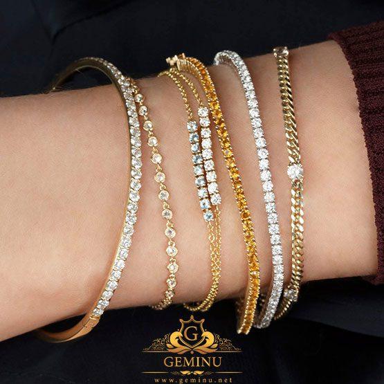 دستبند جواهر دخترانه سبک وزن | دستبند جواهر دخترانه | دستبند جواهر سبک وزن | دستبند جواهر سبک | مدل دستبند جواهر دخترانه