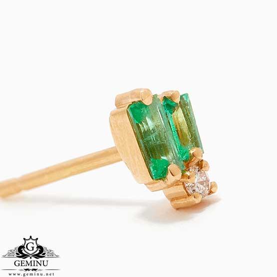 گوشواره طلا زمرد | گوشواره طلا نگین سبز | گوشواره طلا زمرد | گوشواره طلا نگین سبز | گوشواره جواهر سبک