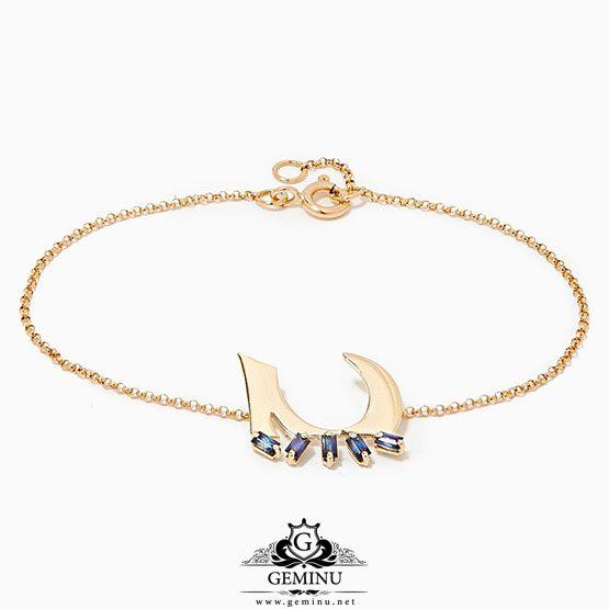 دستبند طلا دخترانه خاص | دستبند طلا دخترانه | دستبند طلا خاص | دستبند طلا زرد | دستبند طلا زنجیری