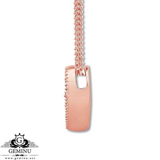 گردنبند جواهر رزگلد قلب | گردنبند جواهر رزگلد | گردنبند جواهر قلب | گردنبند جواهر | گردنبند طلا قلب | آویز طلا قلب