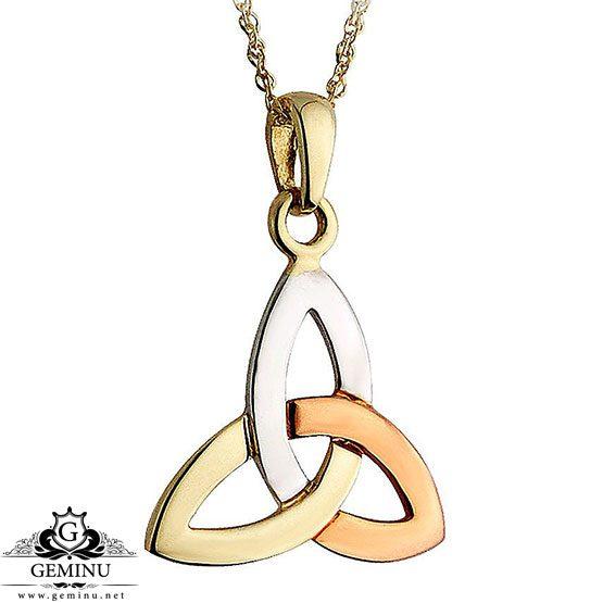 آویز طلا سه رنگ | گردنبند طلا سه رنگ | گردنبند طلا رنگی