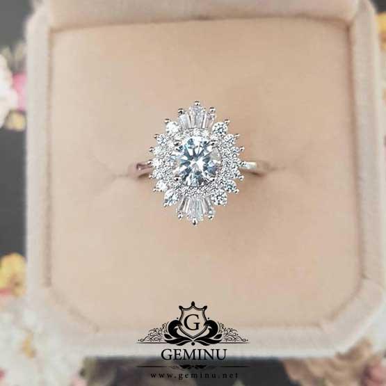 انگشتر جواهر زنانه شیک | انگشتر جواهر زنانه | انگشتر جواهر شیک | انگشتر جواهر زنانه | انگشتر جواهر طلا سفید