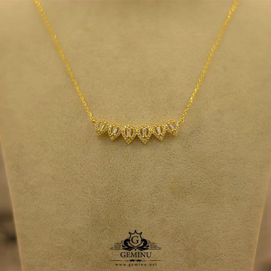 گردنبند لوکس تنیسی | گردنبند لوکس طلا | گردنبند طلا سبک | گردنبند طلا اتمی | گردنبند طلا زرد | گردنبند طلا زنجیر نازک