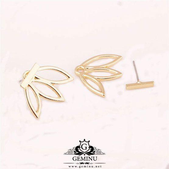گوشواره طلا پشت گوشی | گوشواره طلا جدید | گوشواره طلا دخترانه | گوشواره طلا مدل جدید | گوشواره طلا زرد