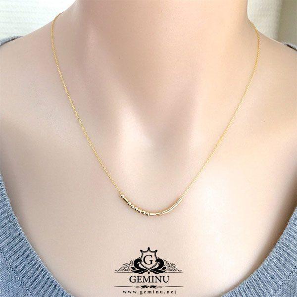 گردنبند طلا مهره دار