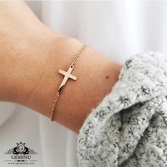 دستبند صلیب طلا   دستبند طلا صلیب   دستبند طلا بدون نگین   دستبند طلا سبک