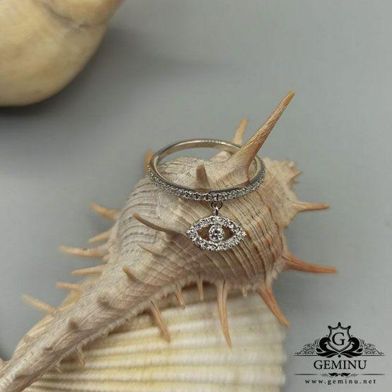 انگشتر جواهر آویز دار طرح چشم و نظر | انگشتر جواهر آویز دار | انگشتر جواهر طرح چشم و نظر | انگشتر طلا طرح چشم نظر | قیمت طلا طرح چشم نظر