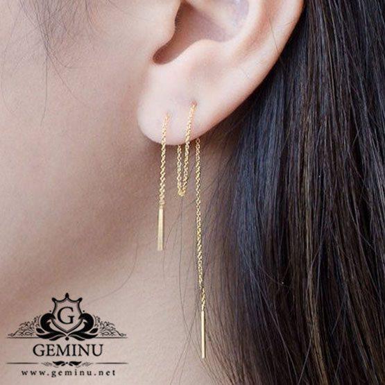 گوشواره بخیه ای | گوشواره آویزی | گوشواره خاص | گوشواره جدید | گوشواره طلا دخترانه | گوشواره سفارشی