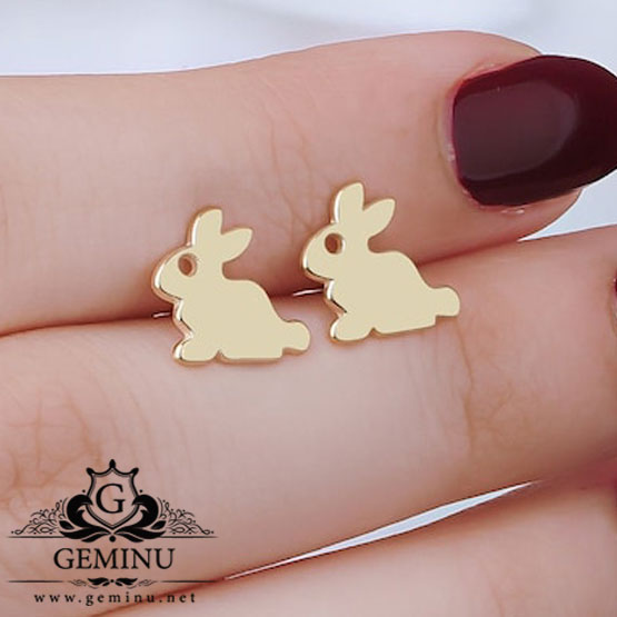 گوشواره خرگوش | گوشواره میخی | گوشواره سبک | گوشواره ظریف | گوشواره دخترانه | گوشواره سفارشی